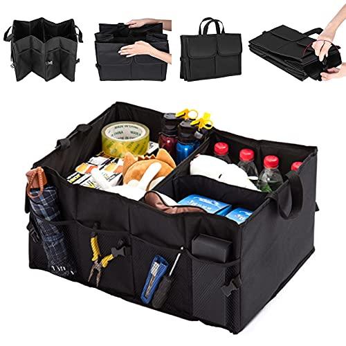 AOMIAO Kofferraumtaschen Auto Kofferraum Organizer 52*38.5*26cm, Kofferraum Aufbewahrungsbox Schwarz Autozubehör Tasche um Auto Gadget zu aufbewahren&verstauena