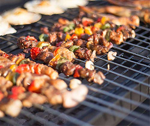 COOLSHOPY 20 Gabeln Pack BBQ Slot 304 Edelstahl rundes gegrilltes Fleisch vom Grill Slot Pin SLY Kebab Spout