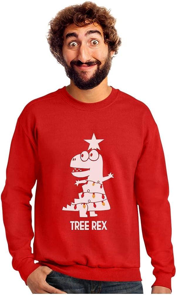 Tree Rex Funny T-Rex Dinosaur Christmas Sweatshirt Tstars