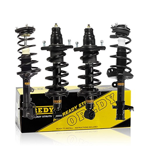 OREDY Shocks Struts Full Set 4PCS Front Rear Struts and Shocks Complete Struts Assembly Coil Spring Struts Kit 15086 15085 11605 11606 172497R 172497L Compatible with CRV 2007 2008 2009 2010 2011