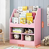 COLiJOL Estantería de almacenamiento para libros y estanterías, ideal para organizar libros y juguetes (color: verde, tamaño: 62,5 x 30 x 100 cm), rosa, 62,5 x 30 x 100 cm