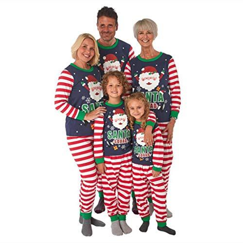 Weihnachten Schlafanzug Familie Weihnachtspyjamas Rot Plaid Patchwork Pullover...