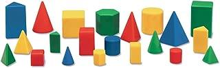 Mini Plastic GeoSolids Relational Shapes, Set of 32 Blocks