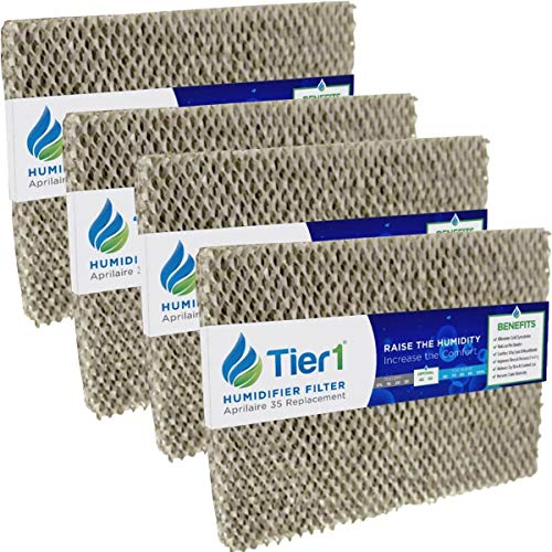 Tier1 Humidifier Filter Replacement for Aprilaire Water Panel 35 Models 350, 360, 560, 560A, 568, 600 - Improves Air Quality in Homes and Offices - 4 Pack