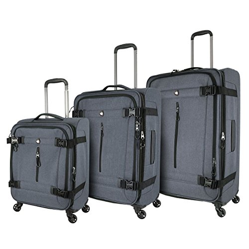 Affordable Mia Toro M1135-03pc-gry Italy Ischia Softside Spinner Luggage 3pc Set, Gray, One Size