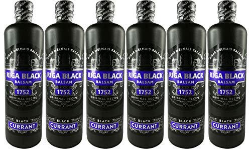 Riga Black Balsam Currant 6er Set (6 x 0,5 L) Rīgas Melnais balzam Sparset