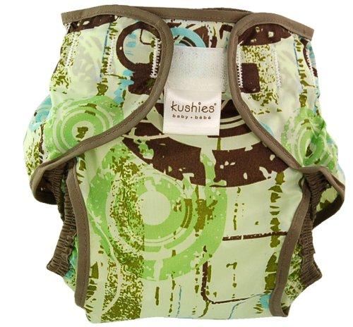 クーシーズ タフタ素材 防水おむつカバー (4〜10kg) ウォーターリング グリーン