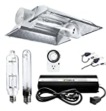 iPower GLSETX600DHMCT8XXL Horticulture 600 Watt HPS MH Bulb Digital Dimmable Ballast Grow Light System Kits Air Cooled Tube Reflector Set XXL Wing, 600W
