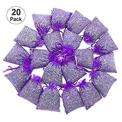 Brite Lightingtech French Lavender Sachets for Drawers and Closets Fresh Scents, Home Fragrance Sachet Bags 20 Pack