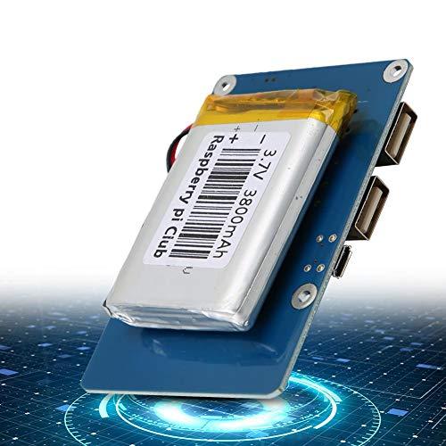 Paquete de batería de litio de salida para Raspberry Pi 3, placa de expansión de alimentación USB dual (batería Raspberry Pi) con batería de litio de 3800 mAH para pantalla LCD Raspberry Pi 3.5