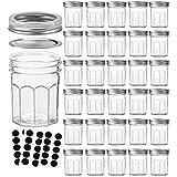 VERONES Mason Jars Canning Jars, 6 OZ Pudding Jelly Jars With Regular Lids and Bands, Ideal for Jam, Honey, Wedding Favors, Shower Favors, Baby Foods, DIY Magnetic Spice Jars, 30PACK