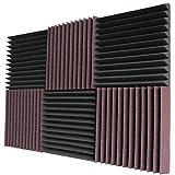 Foamily 6 Pack- Acoustic Panels Studio Foam Wedges 2' X 12' X 12'