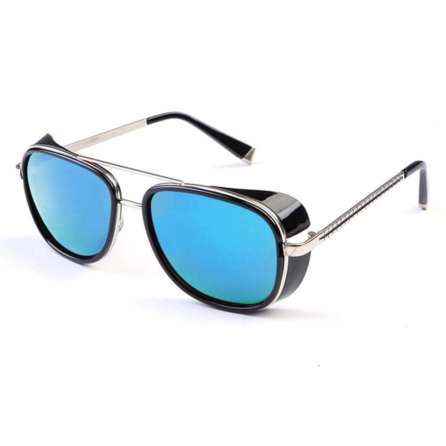 誠意読者うめきファッションレトロフロントガラスサングラスメタルフレームUV400ニュートラルアウトドアカジュアルドライビング
