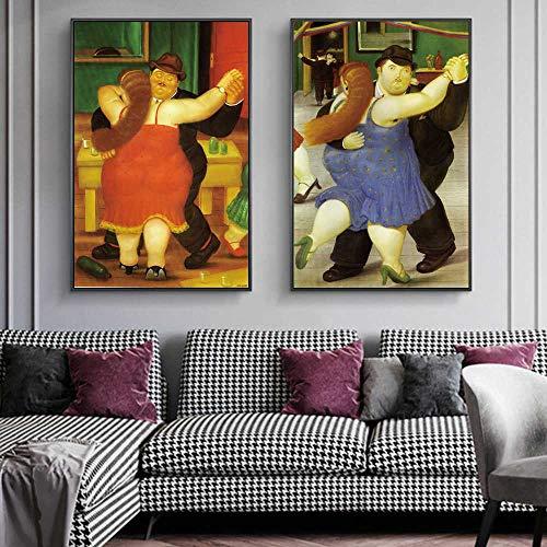 CAPTIVATE HEART Tela de Lienzo 2x60x80cm Los Bailarines de Fernando Botero Cuadros de...