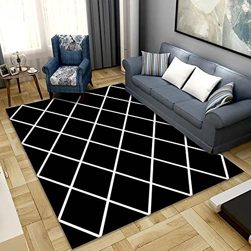 Polyester Simple Nordic Printed Carpet Waterproof Non-Slip Thicken Floor Mat Suitable For Bedroom Living Room Shopping Mall