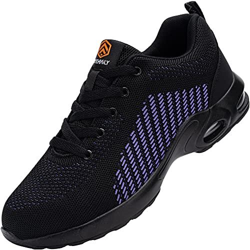 Zapatos de Seguridad Hombre Mujer,Zapatillas de Seguridad Zapatos de Trabajo Calzado de Trabajo Ligeros