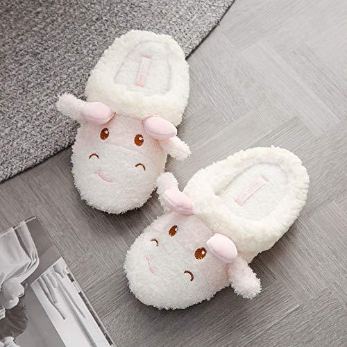 VKGJMHD nieuwe soort-toe-huis-pantoffel-binnenwinter-pantoffel-volwassenen vrouwen-zachte pantoffel-liefhebbers-winter-huis-GILS-karikatuur-olifant-pluche schoenen