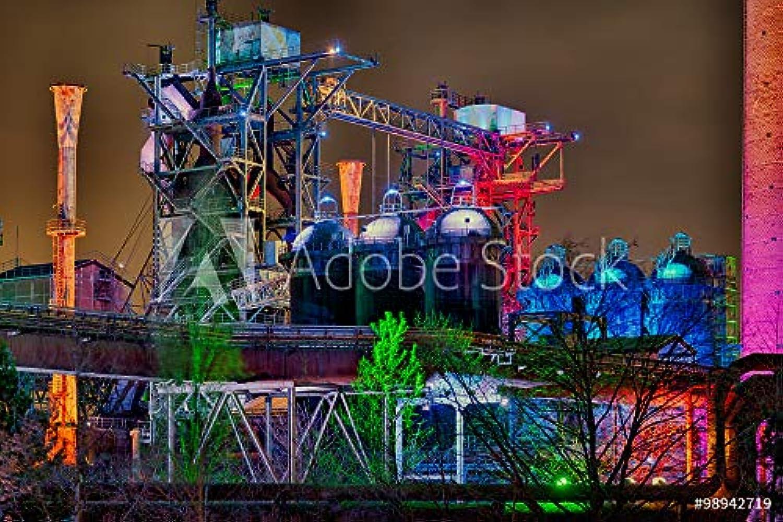 Druck-shop24 Wunschmotiv  Landschaftspark Duisburg Nacht  98942719 - Bild hinter Acrylglas - 3 2-120 x 80 cm