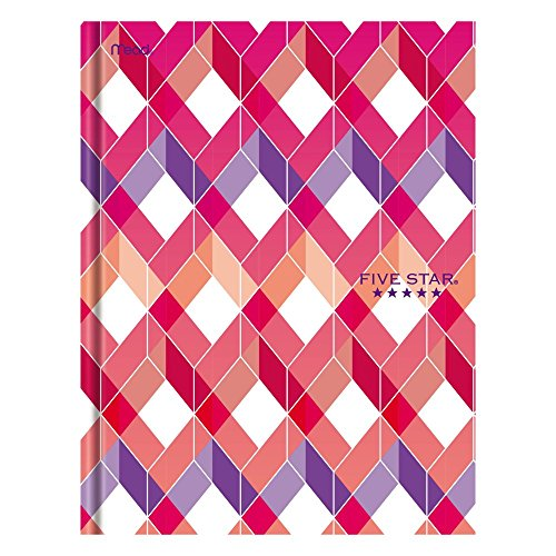 """Five Star Composition Book/Notebook, College Ruled Paper, 100 Sheets, 9-7/8"""" x 7-1/2"""", Hardbound, Design Selected For You (09274)"""