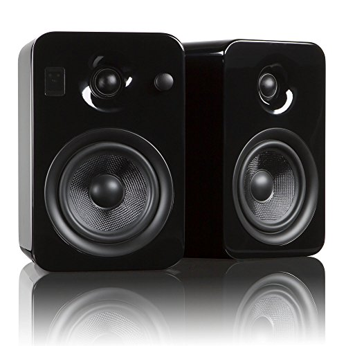 Kanto YUMI Premium Powered Bookshelf Speakers with Wireless Bluetooth 4.0 aptX Technology – Gloss Black