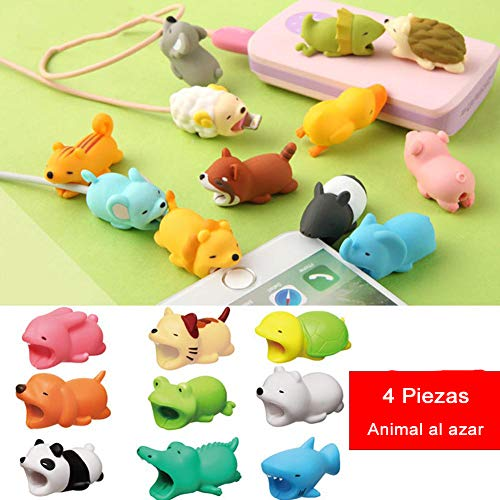 Crewell Cable Protector Cute Animal Shape Protect Prevents Breakage For iPhone Smartphone Cord