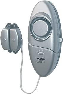 1 pc Techko S028 Ultra Slim Door Guard Alarm - Mighty Mini Alarms /& 2 pcs 3 Pack