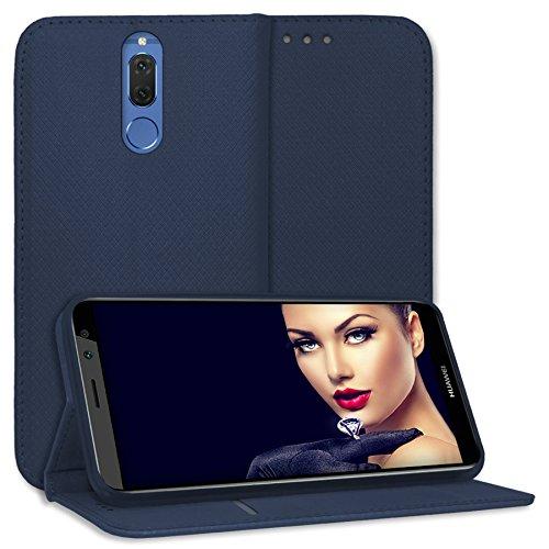 mtb more energy® Schutz-Tasche Bookstyle für Huawei Mate 10 Lite / G10 (5.9'')- dunkelblau - Kunstleder - Klapp-Cover Hülle Hülle