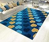 HXJHWB alfombras Grandes Natural Suave decoración - Moderna Sala de Estar Multicolor, Exquisita Alfombra en Forma de corazón, Alfombra Lavable súper Suave Resistente a la suciedad-120 cm x 160 cm