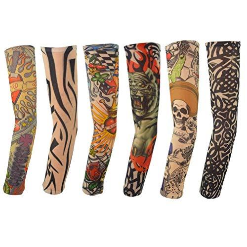 Temporäre Tattoo Ärmel Gefälschte-Slip Tattoo Sleeves Körperkunst Sonnenschutz Arm Strümpfe Zubehör - 6 Stück