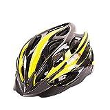 WANGSCANIS Casco de Bicicleta para Adultos Casco Bici Unisex Ajustable para Ciclismo de Montaña y Carretera Casco Bicicleta con Protección Seguridad para Hombres y Mujeres, Negro & Amarillo