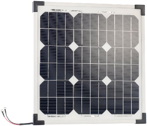 revolt Mobiles Solarmodul: Mobiles Solarpanel mit monokristallinen Solarzellen, 20 Watt (Solarplatten)
