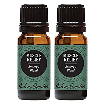 Edens Garden Muscle Relief Essential Oil Synergy Blend 100% Pure Therapeutic Grade  Aromatherapy Oils- Massage & Pain  10 ml Value Pack