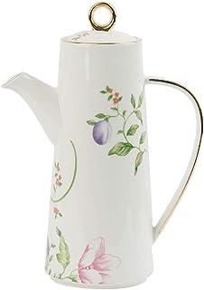 botella dispensadora de vinagre de aceite de oliva y vinagre Olla 650 ml, olla de cocina de salsa de soja vintage de cerámica Dispensador de salsa de oliva a prueba de polvo y fugas con tapa de botel