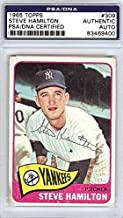 Steve Hamilton Autographed 1965 Topps Card #309 New York Yankees #83469400 - PSA/DNA Certified - NFL Autographed Football Cards