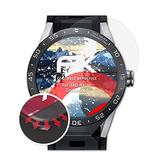 atFoliX Schutzfolie kompatibel mit Tag Heuer Connected Folie, entspiegelnde & Flexible FX Bildschirmschutzfolie (3X)