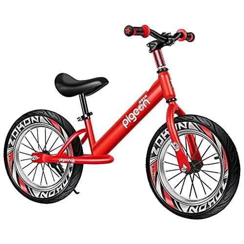 JKYP Bicicleta sin pedal de equilibrio para niños, de 3 a 8 años de edad, para niños y niñas, deportes al aire libre, negro/rojo/azul, bicicleta de equilibrio de aluminio, altura ajustable del asiento