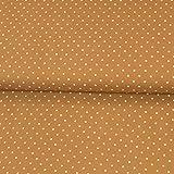 Viskosestoff Tupfen rehbraun Punkte Polka Dots Modestoffe