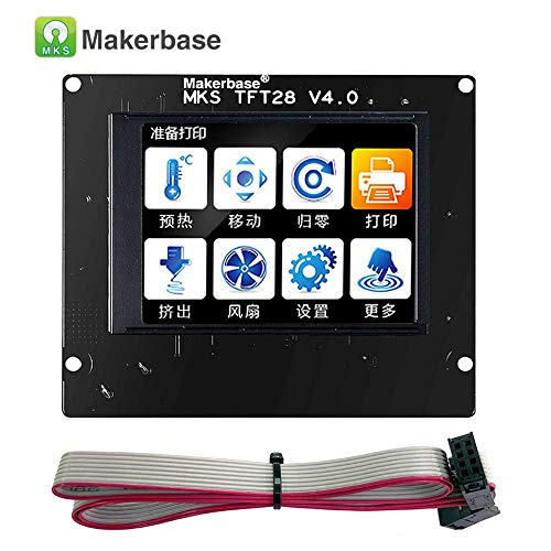 3Dman MKS TFT28 V4.0 2.8-Inch Full-Color Touch Screen,Support Marlin/Smoothieware/Repetier with Wifi Module, APP, Cloud Printing for 3D Printer Parts