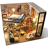UniHobby DIY Dollhouse Kit with Dust Proof Cover
