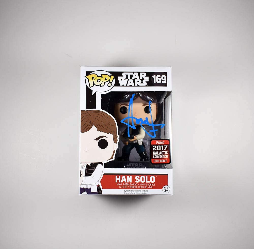 Harrison Ford Star Wars Free shipping on posting reviews Han Solo Autographed Signed Funko #169 Choice P