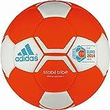 adidas - Ballon de Match Handball STABIL TRIBE EHF EURO 2014 Rouge F47671