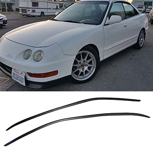 VXMOTOR for 1994-2001 Acura Integra Sedan 4 Door 4Dr Window Visors Rain Guard Deflector Tape On Style V10