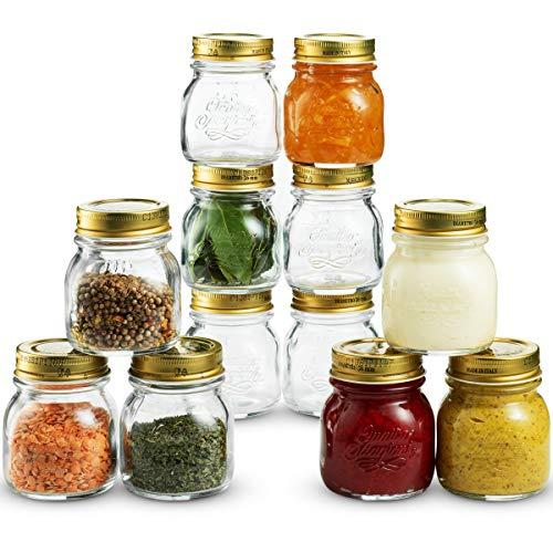 Glass Mason Jars 5-Ounce Mini Jars