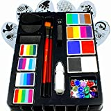 Product Image of the Face Paint Kit for Kids by Kryvaline Professionals with Stencils, Brushes and...