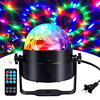 Disco Ball Disco Lights-COIDEA Party Lights Sound Activated Storbe Light With Remote Control DJ Lighting,Led 3W RGB Light Bal Dance lightshow for Home Room Parties Kids Birthday Wedding Show Club Pub
