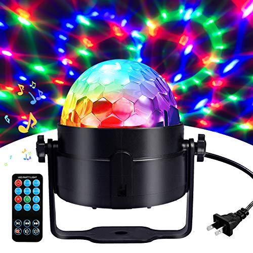 party lights Disco Ball Disco Lights-COIDEA Party Lights Sound Activated Storbe Light With Remote Control DJ Lighting,Led 3W RGB Light Bal, Dance lightshow for Home Room Parties Kids Birthday Wedding Show Club Pub