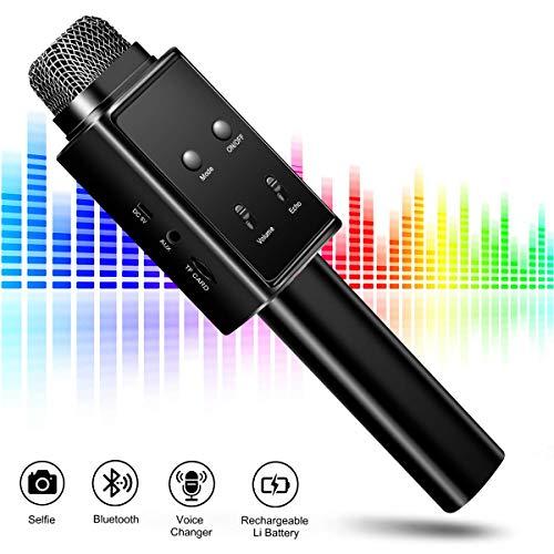 JASZW Karaoke Macchina KTV con Altoparlante, Microfono Bluetooth Wireless, Selfie ed elimina la Voce Originale Perfetta per Pop, Rock n Roll, Feste solitarie e Altro