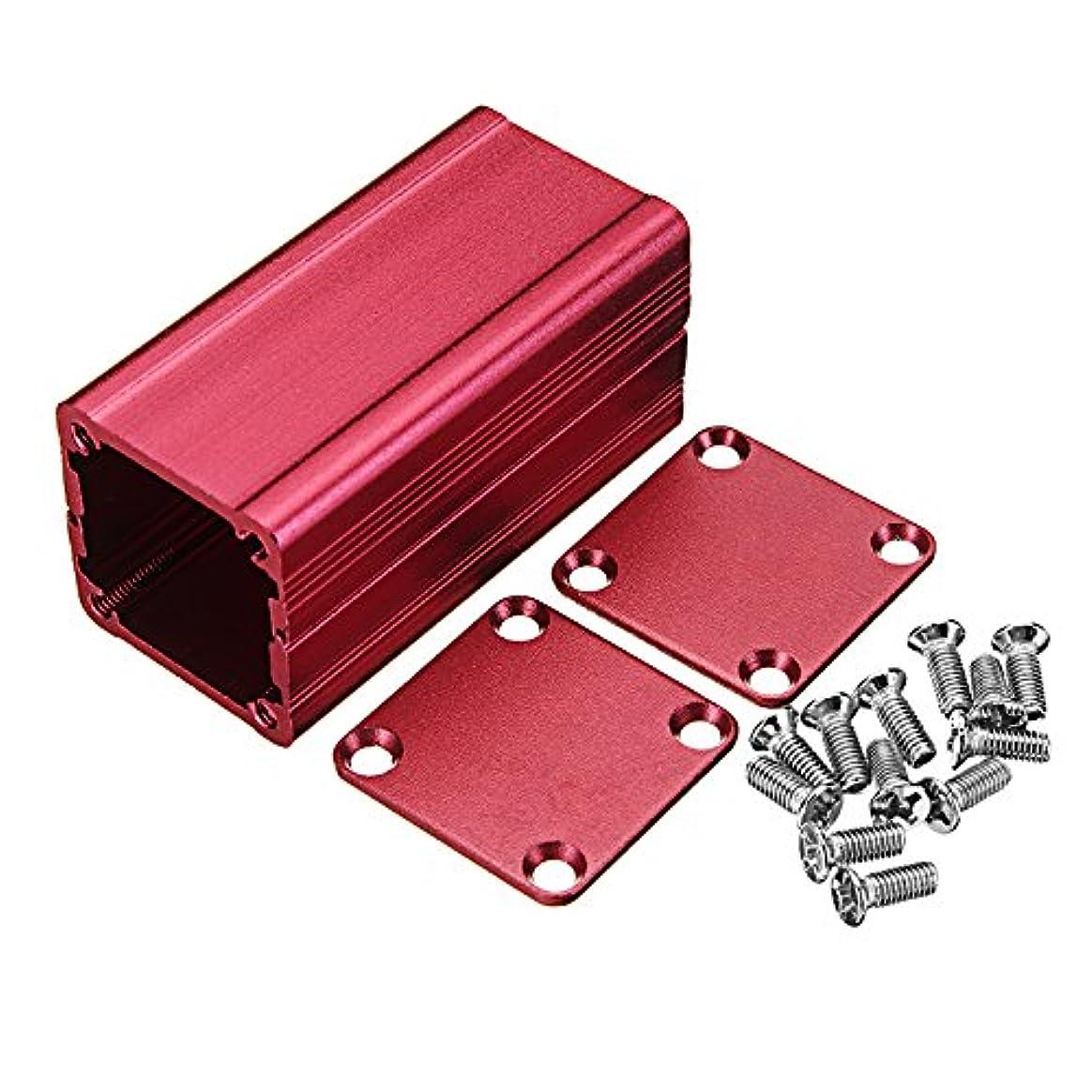 フレームワークカエル差別化するQueenwind レッド押出アルミニウムプロジェクトボックス電子筐体ケース DIY 熱放散ツール 50 * 25 * 25mm