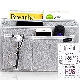 HomeCentralShop Bedside Caddy Hanging Organizer - Eco Friendly & Extra Storage Bed Pockets Bedside Storage Organizer for Dorm, Mattress, Couch, Shelf & Bunk Bed Caddy Organizer - Large Size, Grey