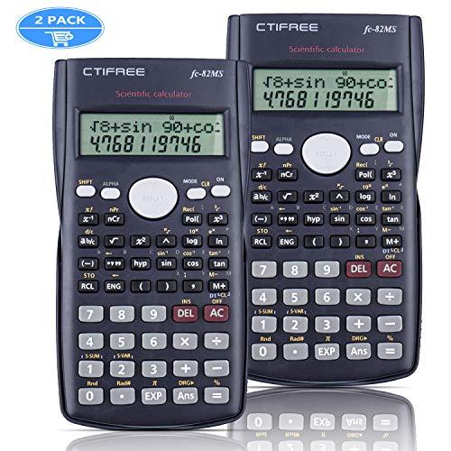 SPLAKS wissenschaftlicher Taschenrechner 2 Stück mit 240 integrierten Funktionen eignet für Schule oder Büro